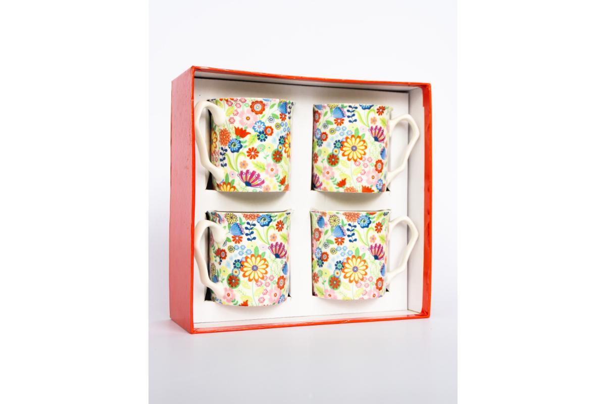Ditsy Flowery 4 Piece Mug Set_001